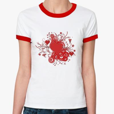 Женская футболка Ringer-T Валентинка