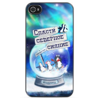Чехол для iPhone Елка на воде (iPhone 4/4S)