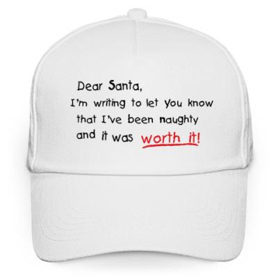 Кепка бейсболка Dear Santa, I've been naughty