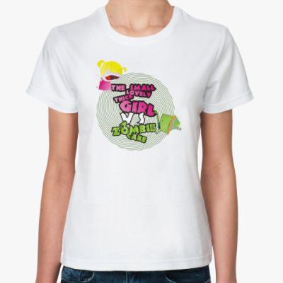 Классическая футболка Girl vs Zombie