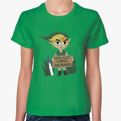 Женская футболка will cut grass for rupees