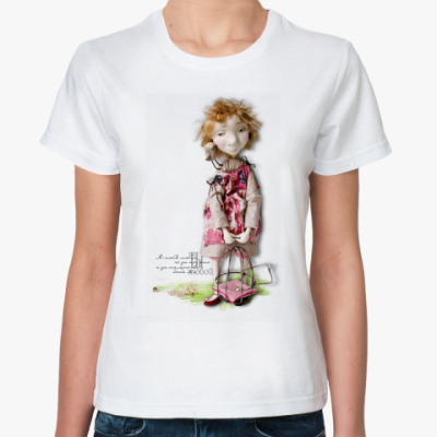 Классическая футболка  Леля и птичка