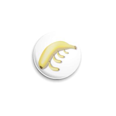 Значок 25мм  Банан 25 мм