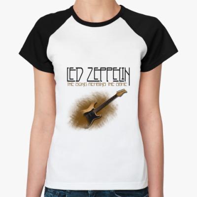 Женская футболка реглан  Led zeppelin