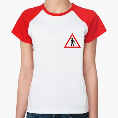Женская футболка реглан Слепая