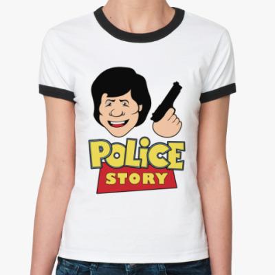 Женская футболка Ringer-T Police story