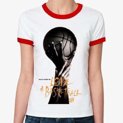 Женская футболка Ringer-T    Баскетболл