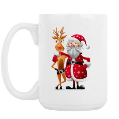 Кружка Дед мороз и олень