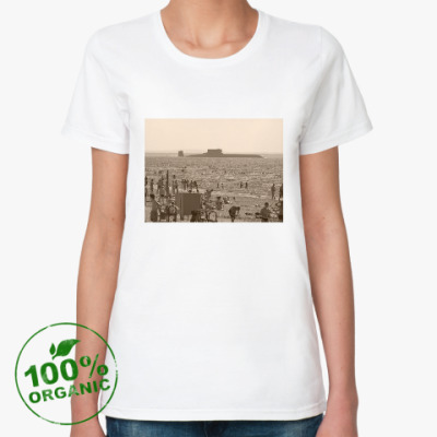 Женская футболка из органик-хлопка Белое море