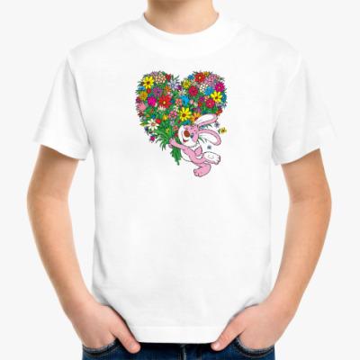 Детская футболка Детская Зайка