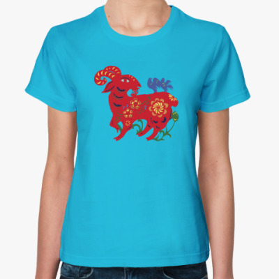 Женская футболка Баран из сказки