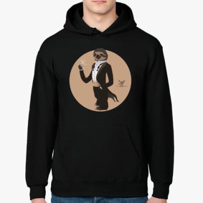 Толстовка худи Animal Fashion: S is for Sloth in Smoking