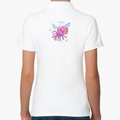 Женская рубашка поло осминог