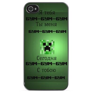 Чехол для iPhone Minecraft Creeper