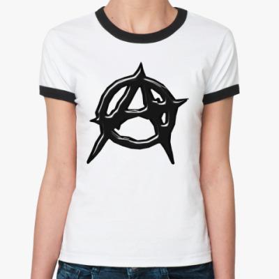 Женская футболка Ringer-T Anarchy