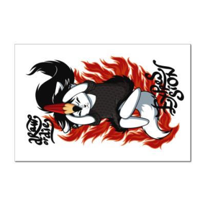 Наклейка (стикер) Draw Or Die Cat