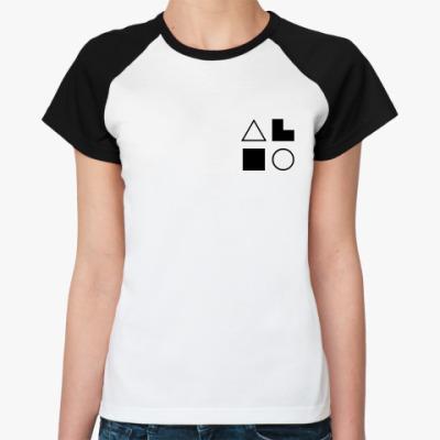 Женская футболка реглан  ИЭИ (Есенин)