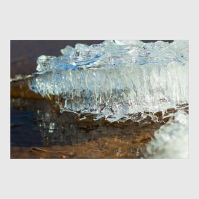 Постер Весенний лёд