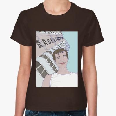 Женская футболка подмигивающий парень