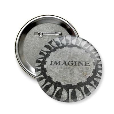 Значок 58мм  Imagine (сред)