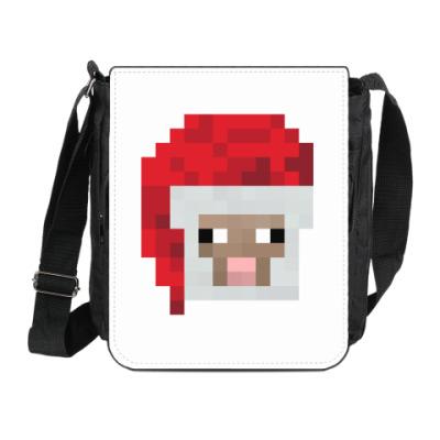 Сумка на плечо (мини-планшет) Знаменитая овечка из Minecraft