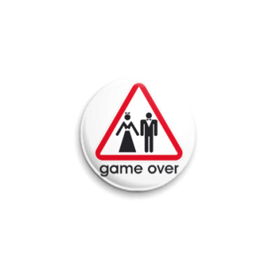 Значок 25мм  Game over