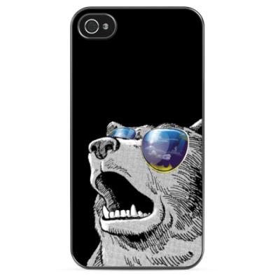 Чехол для iPhone Медведь в очках
