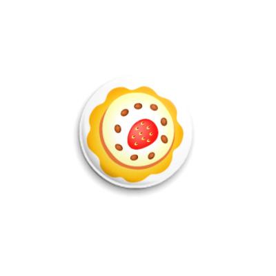 Значок 25мм  Пирожное