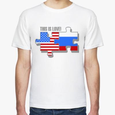 Футболка Это любовь (Россия, США)