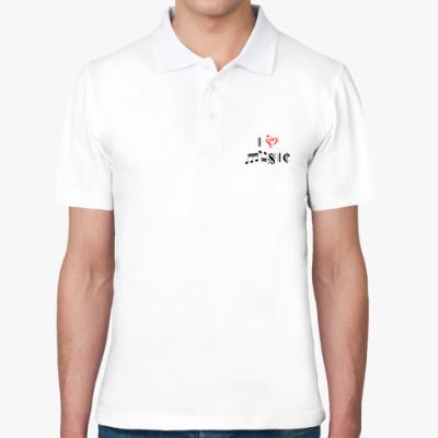 Рубашка поло 'I love music'