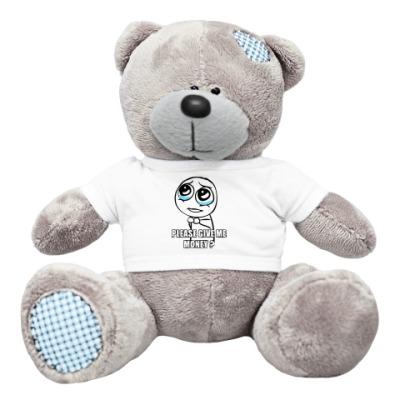 Плюшевый мишка Тедди Please give me money?