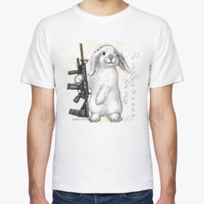 Футболка Маленький белый зайчик