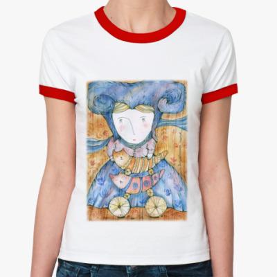 Женская футболка Ringer-T Волшебница Котов