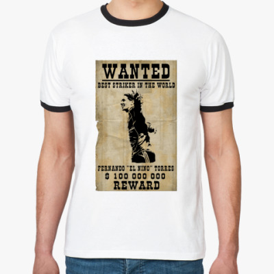 Футболка Ringer-T  wanted torres