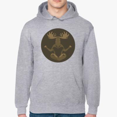 Толстовка худи Animal Zen: M is for Moose