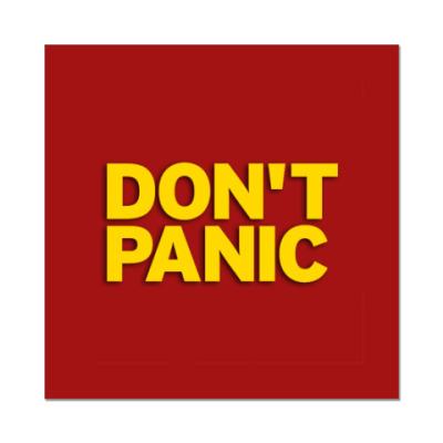"Наклейка (стикер)  ""Без паники"""