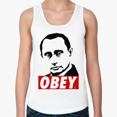 Женская майка Путин (Стиль Obey)