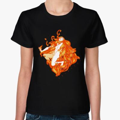 Женская футболка Огненная ведьма