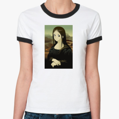 Женская футболка Ringer-T 'Аниме Лиза'