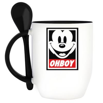 Кружка с ложкой OHBOY