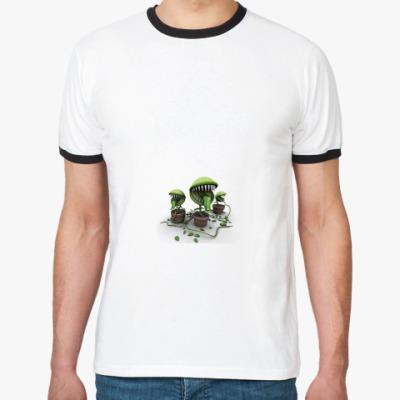 Футболка Ringer-T Плотоядные растения