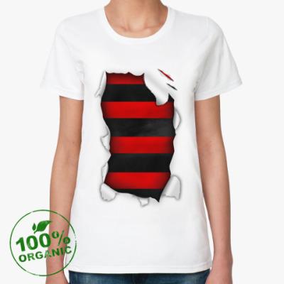 Женская футболка из органик-хлопка  'Фредди крюгер'