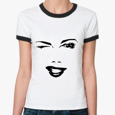 Женская футболка Ringer-T Флирт