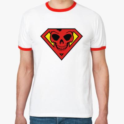 Футболка Ringer-T Skull Superman
