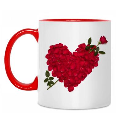 Кружка Сердце и роза