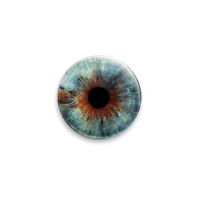 Значок 25мм eye-05  25 мм