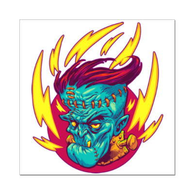 Наклейка (стикер) Франкенштейн в огне
