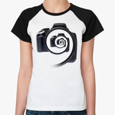 Женская футболка реглан Бесконечный фотоаппарат