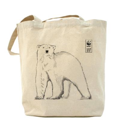 Сумка WWF. Белый медведь
