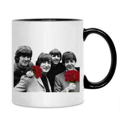 Кружка Beatles весенние